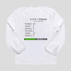 Level 1 Human [Personalize] Long Sleeve T-Shirt